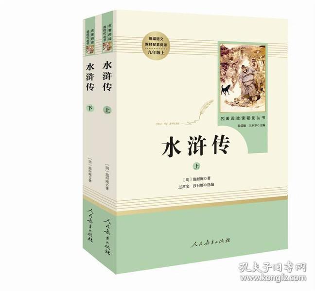 水浒传(上下册)九年级上 人教版名著阅读课程化丛书 教育部统编教材推荐必读书目 人民教育出版社