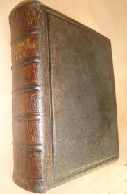 1868年《神圣经典》 全大丘纹摩洛哥山羊皮豪华装桢 超大开本 手书家族谱 配补插图