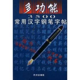 多功能3500常用汉字钢笔字贴