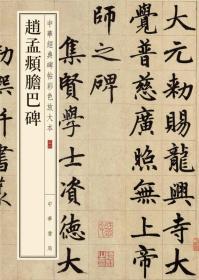 中华经典碑帖彩色放大本:赵孟頫胆巴碑