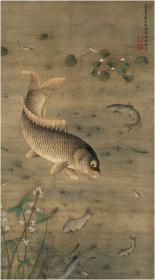 工艺品高仿真复制画—鱼藻图