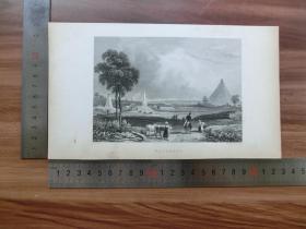 【现货 包邮】19世纪 铜/钢版画 单幅 WATERLOO(货号 200360)
