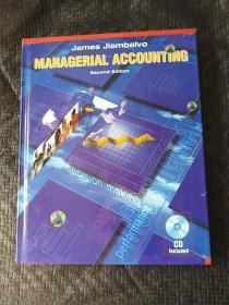 MANAGERIAL  ACCOUNTING second edition 英文版 精装 附光盘 书内有点划线 不影响书  书品如图 避免争议