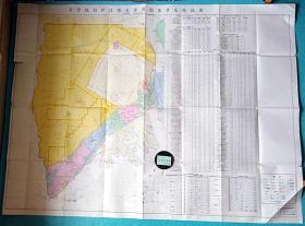 【乡宁规划矿区煤炭资源勘查开发现状】大尺寸:160*120厘米 单面印刷@注意品相 折叠邮寄