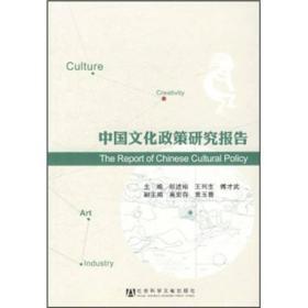 【二手包邮】中国文化政策研究报告 祁述裕 王列生 傅才武 社会科
