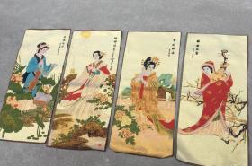 唐卡四大美女 织锦画