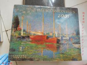 Impressionists 2001 月历(印象派作品挂历整年12张,8开)