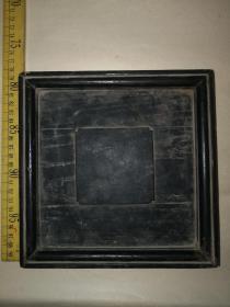 不知是什么木材的清代特制木盘,做工特殊