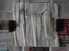 刘克训[字弘宇]花鸟2平尺,保真