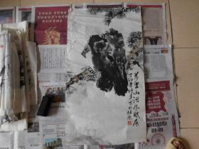 中国美协会员,著名画家高传建花鸟3平尺,保真
