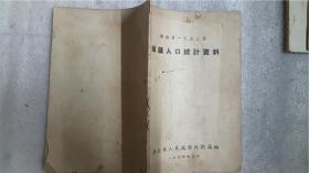 湖北省1953年城镇人口统计资料