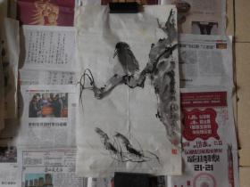 吴长东花鸟2平尺,保真