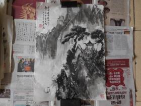 著名画家姚佐庭山水2平尺,保真