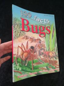 100 Facts - bugs【英文原版书 彩印】大16开