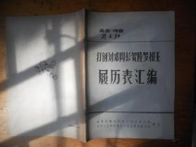 打到刘邓陶彭贺陆罗杨王 履历表汇编 北京--河南 满天红