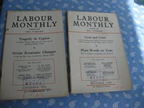 LABOUR MONTHLY  1958年第11-12共2期【月刊 】