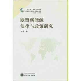 新能源法律与政策研究丛书:欧盟新能源法律与政策研究武汉大学程荃9787307101562