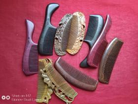 缅甸黑檀木、紫罗兰紫芯木、绿檀木梳子