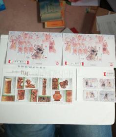 2017年澳门中国戏曲-霸王别姬邮票小型张 2张、4全连 、竹刻邮票小全张 【合售】