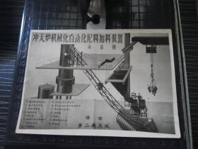 老照片--济南第二机床厂冲天炉机械化自动化配料加料装置示意图