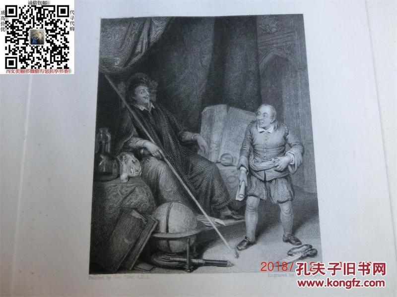 【現貨 包郵】《 The Astrologer 》1836年鋼版畫   尺寸27.8*21.3厘米    (貨號18004)