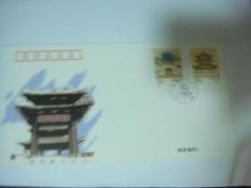1996年经略台真武阁特种邮票发行首日封1枚贴J邮票2枚70分