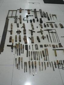 怀旧木工工具108件