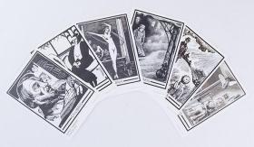 藏书票--鲁迅编选版画6种  鲁迅编选版画六种(6张) 《泰伊丝》插画,《闲坐》,《培林斯基像》,《斯朋加》插画,《城与年》插图二种