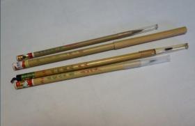 毛笔3支  五紫五羊、双料写卷 、净化鸡狼毫小楷等   苏州湖笔厂   回流品
