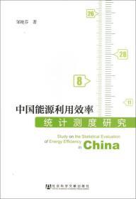 中国能源利用效率统计测度研究