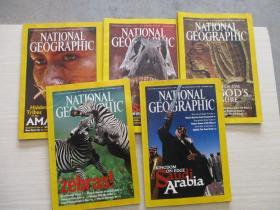 NATIONAL GEOGRAPHIC 美国国家地理2003年 5本合售不重复 见图【887】