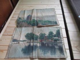 西湖平湖秋月、杭州六和塔桥(杭州都锦生丝织厂)
