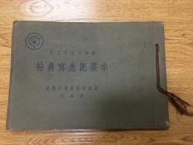 1940年日本高槻尋常高等小學校《卒業紀念寫真帖》一冊,內有照片7張印刷寫真4張
