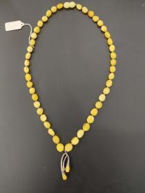 欧洲 蜜蜡 琥珀 项链 13.46克 46cm