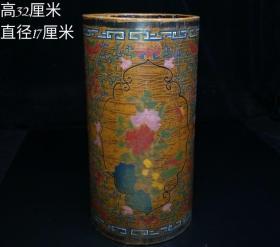 漆器花瓶,重量1.2公斤
