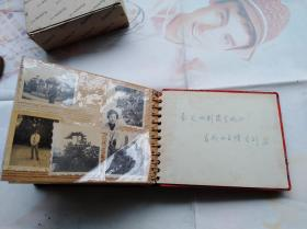 老影集一本:贴满了共计八十多张。扉页签名赠送时间是1976年,有的照片时间应当比这个早。有上海为民照相馆、上海甘泉等,有西湖、杭州飞来峰等背景老照片。
