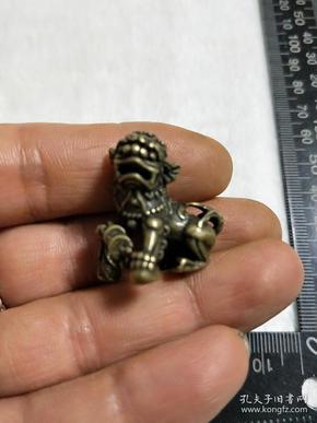 銅件小擺件【威武金錢獅子】迷你小銅器,喜歡別錯過哦!重量尺寸看圖