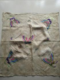清代小姐刺绣汗巾