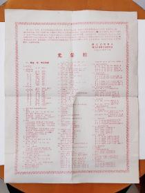 1981年镇江市教育局体育运动委员会光荣榜1张(4开)