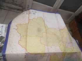 中华人民共和国行政区划图 (150X115厘米) 一九五几年第二次印刷,品如图
