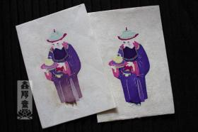鑫阳斋。云龙纸棉纸贴京剧人物5彩色老剪纸意大利品牌收藏品