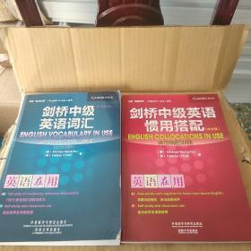 剑桥中级英语词汇 第2版 中文版 剑桥中级英语惯用搭配 中文版 两册合售