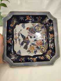 西洋 欧洲 德国 装饰盘 瓷方盘 24cm