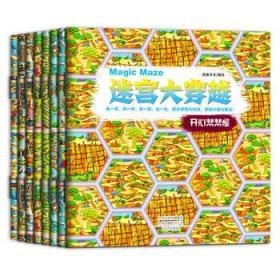 正版 迷宫大穿越全套8册 0-3-4岁儿童思维训练益智游戏书 培养专注力训练书逻辑思维训练 智力开发亲子互动早教书隐藏的图画 正版