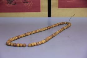 旧藏  鹰骨佛珠手串,尺寸长53厘米,珠子1.0厘米,细节图如下