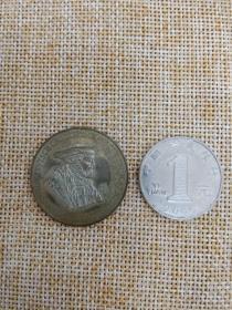 银币 硬币 纪念币 欧洲 德国 沃尔特·冯·克伦伯格 Walter von Cronberg 1527-1543 条顿骑士团首领 高浮雕 直径30mm,厚度2.3mm 重12.49克