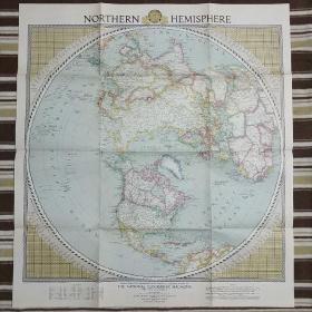 National Geographic國家地理雜志地圖系列之1946年2月  Northern Hemisphere 北半球地圖