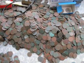 铜元,原味品。8000枚。薄锈。+。