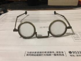 原装民国铜眼镜,带原盒。