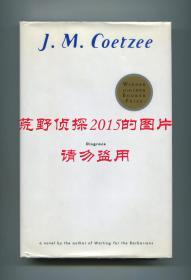 【签名本】库切《耻》(Disgrace),2003年诺贝尔文学奖得主,布克奖获奖作品,1999年美国版初版精装,第十四次印刷,库切签赠